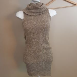 Revamped | brown sweater ribbed knit dress